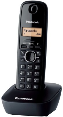 Panasonic KX-TG1611 Cordless Landline Phone(Black)