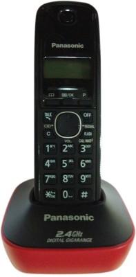 Panasonic KX-TG3411SXR Cordless Landline Phone(Red, Black)  available at flipkart for Rs.1625