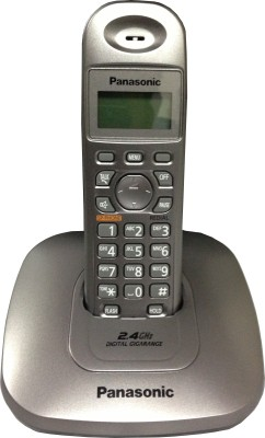 Panasonic KX-TG3611SXM Cordless Landline Phone(Grey) at flipkart