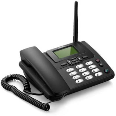 Huawei ETS3125i SIM enabled Cordless with FM Radio & 4-6 Hrs Backup Cordless Landline Phone (Black)