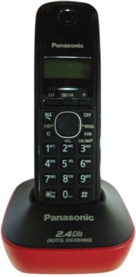 Panasonic PA-KX-TG3411 Cordless Landline Phone(Red)