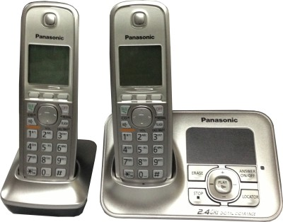 Panasonic KXTG-3722 Cordless Landline Phone(Silver)