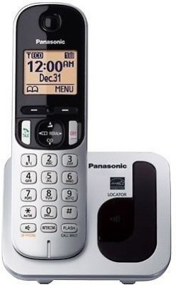 Panasonic KX-TGC210 Cordless Landline Phone(Silver, Black, White)