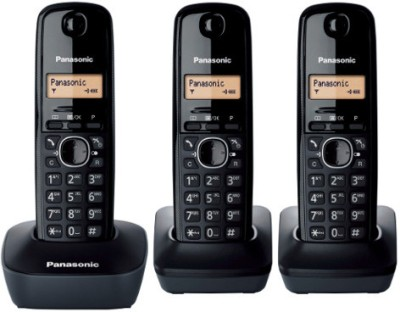Panasonic KX-TG 1613 Cordless Landline Phone(Black)  available at flipkart for Rs.6990