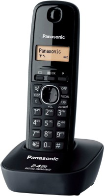 Panasonic KX- TG3411SX Cordless Landline Phone, Black