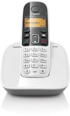 Gigaset A490 Cordless Landline Phone(White) at flipkart