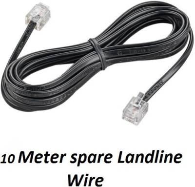 99Gems 10 meter Line wire FOR Corded Landline Phone (black)