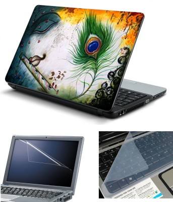 Namo Art 3in1 Laptop Skins with Screen Guard and Key Protector HQ1064 Combo Set Multicolor