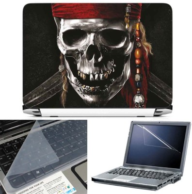 FineArts Pirates Logo 3 in 1 Laptop Skin Pack With Screen Guard & Key Protector Combo Set(Multicolor)