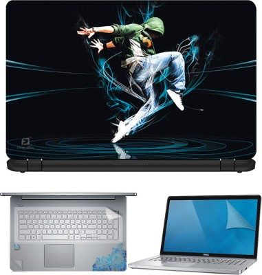 FineArts Dance 4 in 1 Laptop Skin Pack with Screen Guard, Key Protector and Palmrest Skin Combo Set(Multicolor)