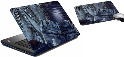 meSleep Jeans Laptop Skin 235 Combo Set(Multicolor)  available at flipkart for Rs.299