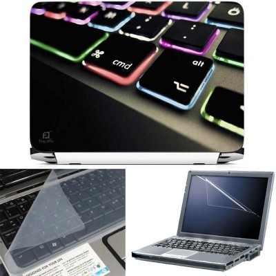 FineArts Keyboard Color Led 3 in 1 Laptop Skin Pack With Screen Guard & Key Protector Combo Set(Multicolor)