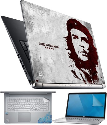 FineArts Che Guevara 4 in 1 Laptop Skin Pack with Screen Guard, Key Protector and Palmrest Skin Combo Set
