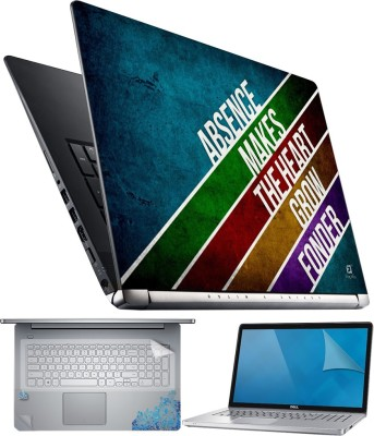 FineArts The Heart 4 in 1 Laptop Skin Pack with Screen Guard, Key Protector and Palmrest Skin Combo Set Multicolor