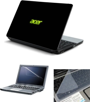 Geek Acer logo black Background 3in1 Laptop Skins with Laptop Screen Guard and Key Protector HQ 15.6 Inch Combo Set