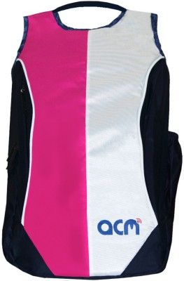 ACM 14 inch Expandable Laptop Backpack Pink