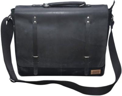 Le Craf 15 inch Laptop Messenger Bag(Black) at flipkart