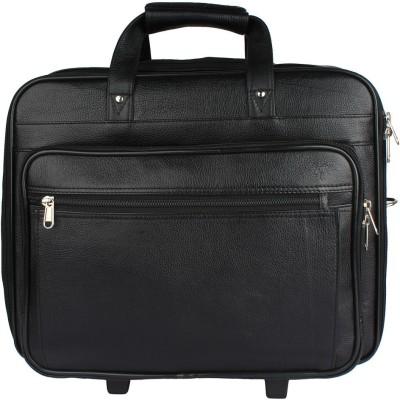Mex 16 inch Trolley Laptop Strolley Bag(Black) at flipkart