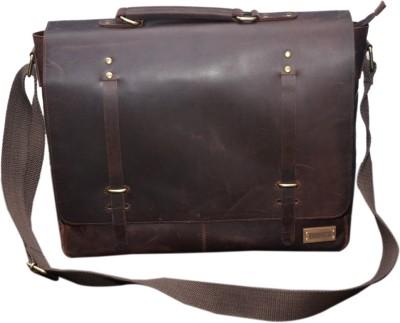 Le Craf 15 inch Laptop Messenger Bag(Brown) at flipkart