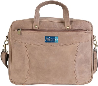 Adone 15 inch Laptop Messenger Bag Tan Adone Laptop Bags