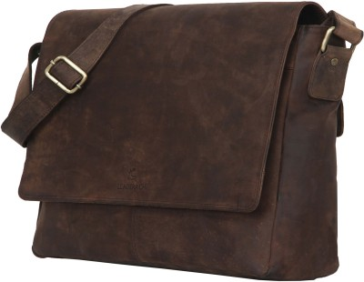 H.A.Leathers 15 inch Laptop Messenger Bag Brown H.A.Leathers Laptop Bags