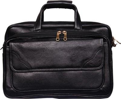 Leather World 16 inch Laptop Messenger Bag(Black) at flipkart