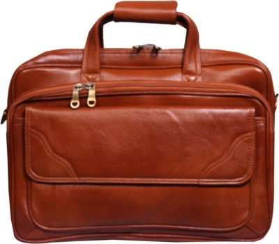 Leather World 16 inch Laptop Messenger Bag Multicolor Leather World Laptop Bags