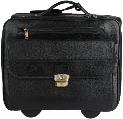 Mex 16 inch Trolley Laptop Strolley Bag(Black) at flipkart