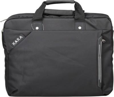 KARA 15 inch Laptop Messenger Bag Black KARA Laptop Bags