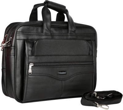 Easies 17 inch Laptop Messenger Bag Black Easies Laptop Bags
