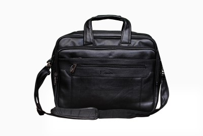 Easies 17 inch Expandable Laptop Messenger Bag(Black) at flipkart