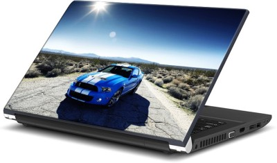 Rangeele Inkers Blue Fast Racing Car Vinyl Laptop Decal 15.6  available at flipkart for Rs.119