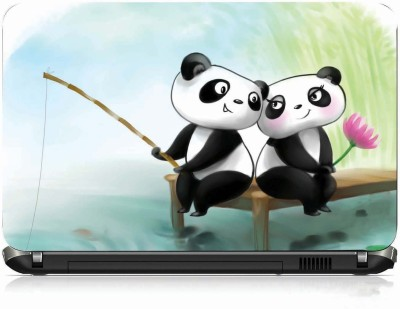 VI Collections PANDA LOVE PRINTED VINYL Laptop Decal 15 at flipkart