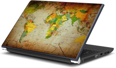 Artifa World Map Vinyl Laptop Decal 15.6