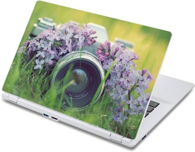 ezyPRNT Camera Hidden in Purple Flowers (13 to 13.9 inch) Vinyl Laptop Decal 13  available at flipkart for Rs.270