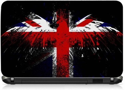 VI Collections BRITISH FLAG IN EAGLE PVC (Polyvinyl Chloride) Laptop Decal 15.6 at flipkart