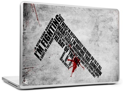 Print Shapes Fighting gun Vinyl Laptop Decal 15.6