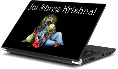 ezyPRNT Jai Shree Krishna (15 to 15.6 inch) Vinyl Laptop Decal 15