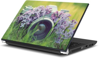 ezyPRNT Camera Hidden in Purple Flowers (15 to 15.6 inch) Vinyl Laptop Decal 15  available at flipkart for Rs.270