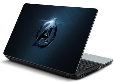 Geek bluish avengers logo HQ Laminated Vinyl Laptop Decal 15.6