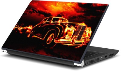 Rangeele Inkers Burning Car Vinyl Laptop Decal 15.6  available at flipkart for Rs.119