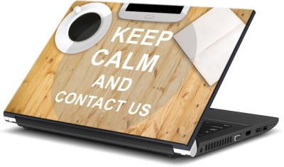 ezyPRNT Keep Calm and Contact US (14 to 14.9 inch) Vinyl Laptop Decal 14