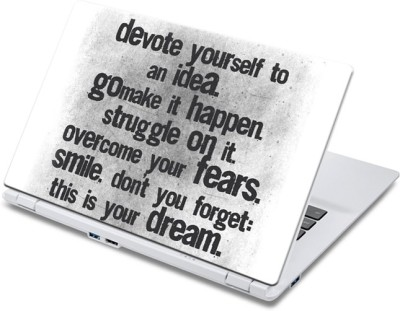 ezyPRNT Devoting Quote Poste (13 inch) Vinyl Laptop Decal 13  available at flipkart for Rs.270
