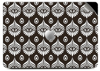 Swagsutra White Abstract Vinyl Laptop Decal 15