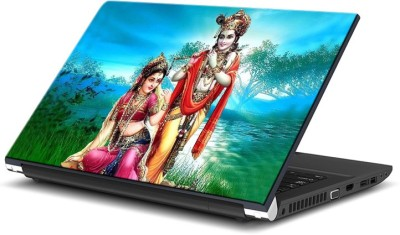 ezyPRNT Radha Krishna Scenary (15 to 15.6 inch) Vinyl Laptop Decal 15