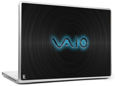 Print Shapes Sony vaio with black wall Vinyl Laptop Decal 15.6