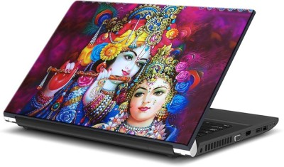 ezyPRNT Beautiful Radha Krishna (15 to 15.6 inch) Vinyl Laptop Decal 15