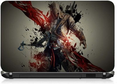 VI Collections WAARIOR WITH BLOOD AND AXE PVC (Polyvinyl Chloride) Laptop Decal 15.6 at flipkart
