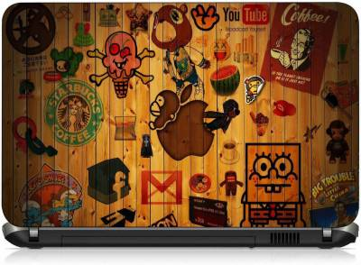 VI Collections LOGOS ON OLD WOOD pvc Laptop Decal 15.6