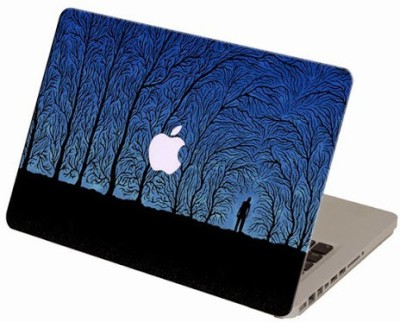 Theskinmantra Wood Maze Skin Macbook 3m Bubble Free Vinyl Laptop Decal 13.3